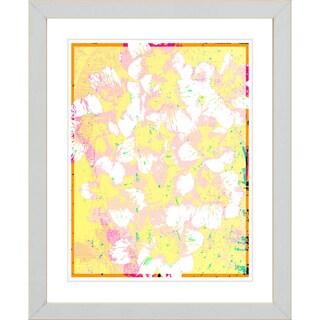 Studio Works Modern 'Alstroemenia Bells - Yellow' Framed Giclee Print