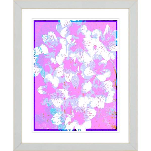 Studio Works Modern 'Alstroemenia Bells - Pink' Framed Giclee Print