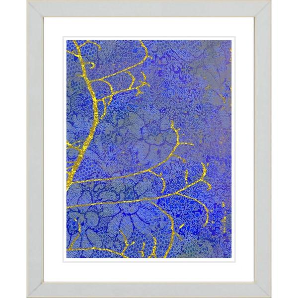 Studio Works Modern 'Flower Branches - Blue' Framed Giclee Print