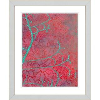 Studio Works Modern 'Flower Branches - Red' Framed Giclee Print