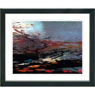 Studio Works Modern 'Reflections - Red' Framed Giclee Print