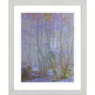 Studio Works Modern 'Spring Forest - Purple' Framed Giclee Print