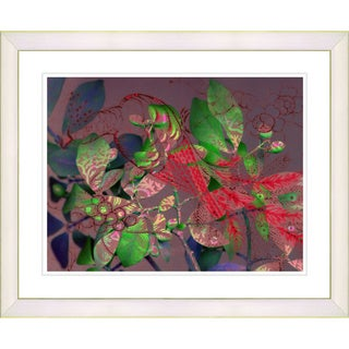 Studio Works Modern 'Rococo Peacock - Red' Framed Giclee Print