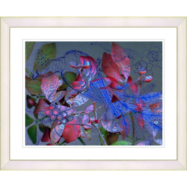 Studio Works Modern 'Rococo Peacock - Blue' Framed Giclee Print