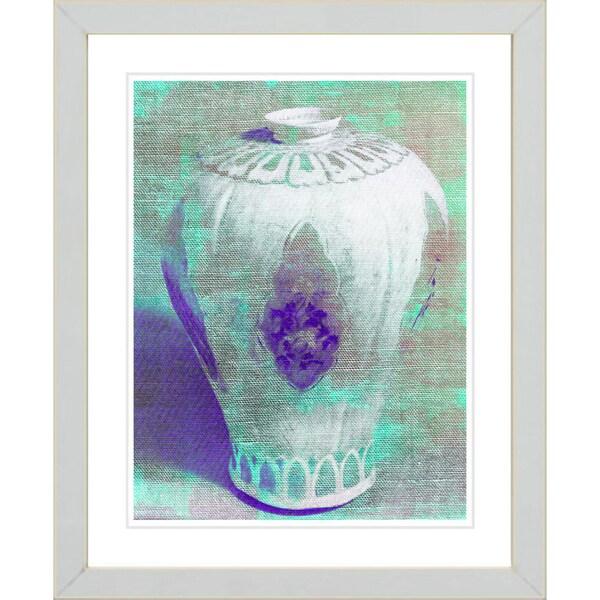 Studio Works Modern 'Aqua Urn' Framed Print