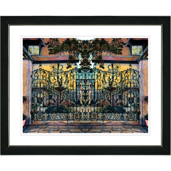 Studio Works Modern 'Ornate Gate' Framed Print