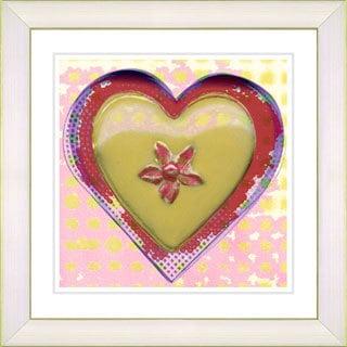 Studio Works Modern 'Yellow Heart' Framed Print