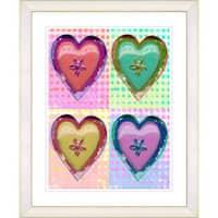 Studio Works Modern Framed '4 Hearts' Art Print