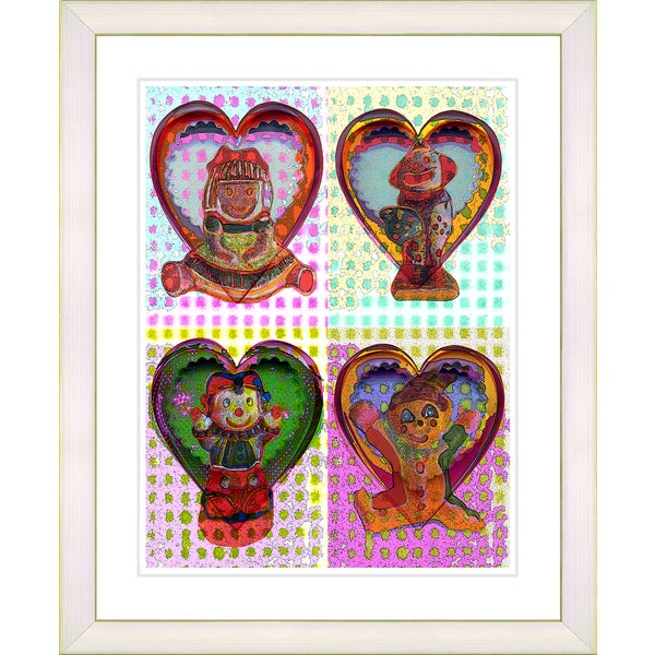 Studio Works Modern 'Four Dolls' Framed Art Print