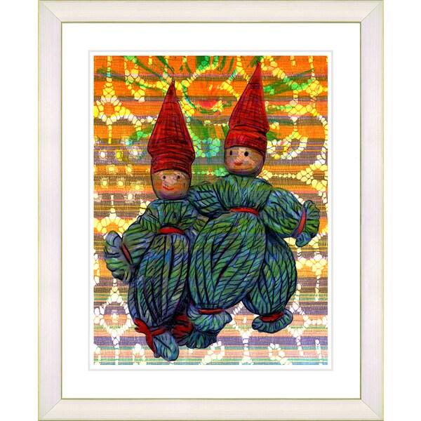 Studio Works Modern 'Yarn Boys' Framed Art Print