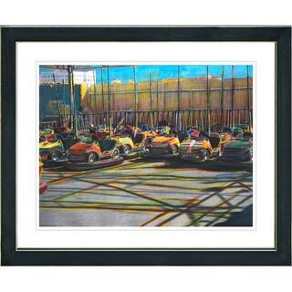 Studio Works Modern 'Bumper Cars' Framed Art Giclee Print
