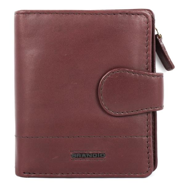 Brandio Women's Brown Leather Bi-fold Wallet