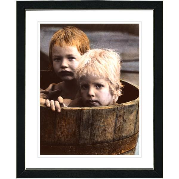 Studio Works Modern 'Brothers in a Tub' Framed Art Print