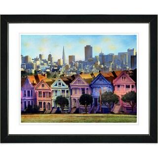 Studio Works Modern 'Victorian Houses' Framed Art Print