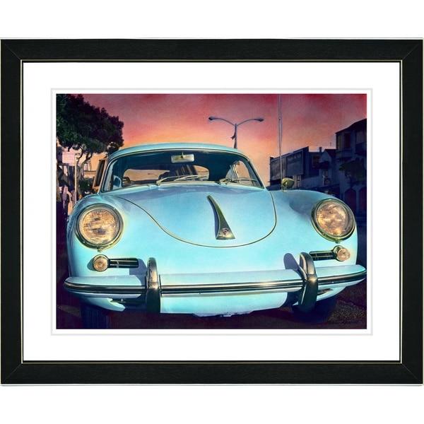 Studio Works Modern 'Blue Porsche' Framed Art Print - Multi