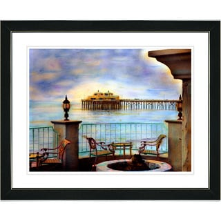 Studio Works Modern 'Malibu Pier' Framed Art Print