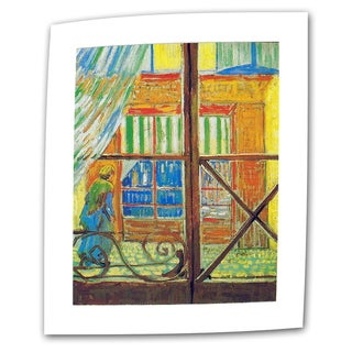 VanGogh 'Pork-Butchers Shop Through The Window' Flat Canvas Art - Multi