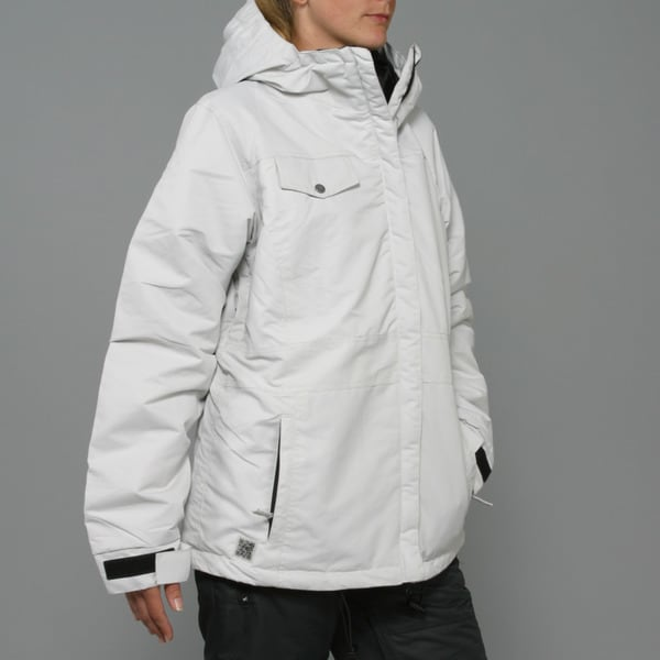 Zonal Women's 'Edge' Light Silver Snowboard Jacket