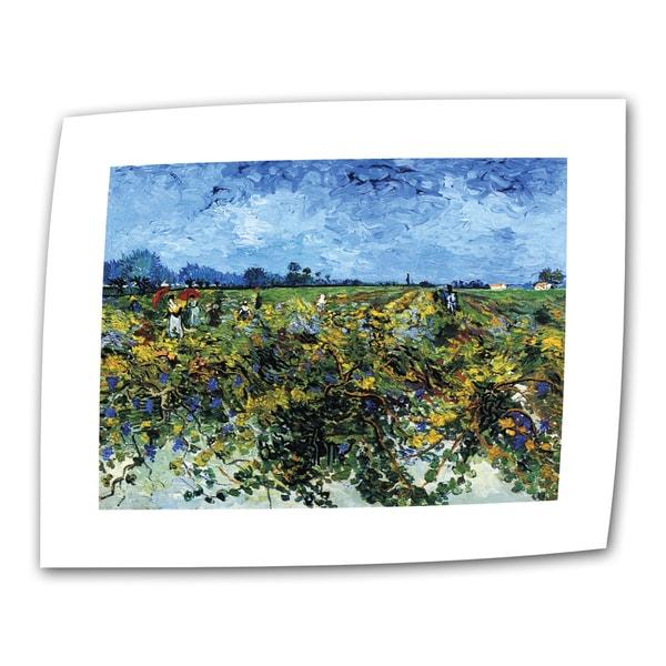 VanGogh 'Green Vineyard' Flat Canvas Art