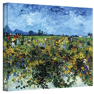 VanGogh 'Green Vineyard' Wrapped Canvas Art