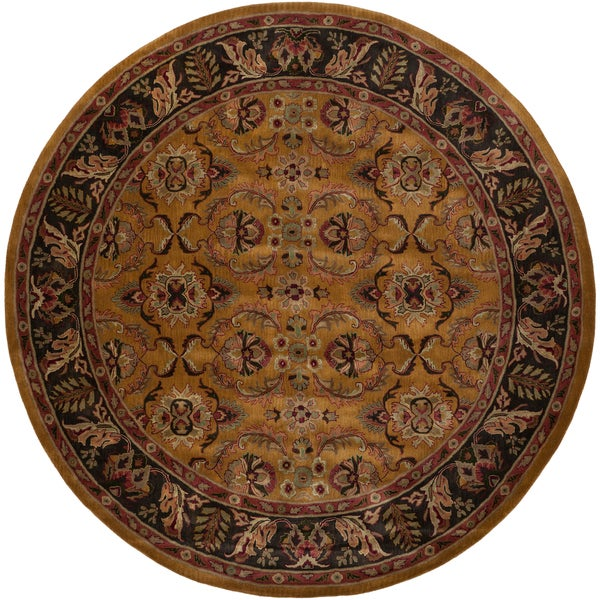Hand-tufted 'Duvall' Parchment Wool Rug (10' Round)