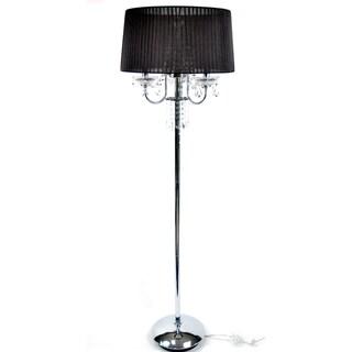 Crystal Black Silk Floor Lamp