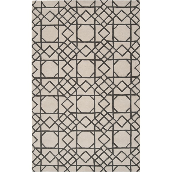 Hand-tufted 'Steinbach' Iron Ore Moroccan Tile Wool Rug (5' x 8')