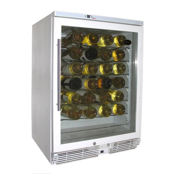 Vinotemp White 58-bottle Wine Cooler