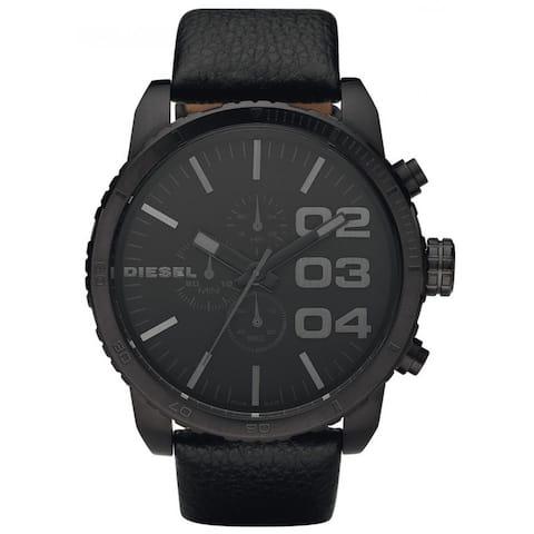 Diesel Men's DZ4216 'XXL' Black Leather Stainless Steel Watch