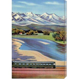 Global Gallery Retro Travel 'Northern Pacific Passenger Excursion' Stretched Canvas Art