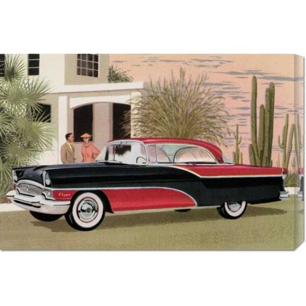 Global Gallery Retro Travel 'Packard Clipper at the Camelback Inn' Stretched Canvas Art