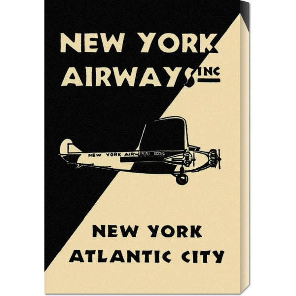 Global Gallery Retro Travel 'New York Airways Inc' Stretched Canvas Art