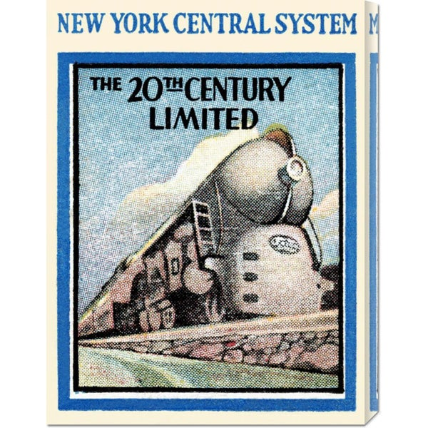 Global Gallery Retro Travel 'New York Central System - The 20th Century Limited' Stretched Canvas Art
