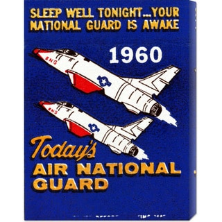 Global Gallery Retro Travel 'Today's Air National Guard' Stretched Canvas Art