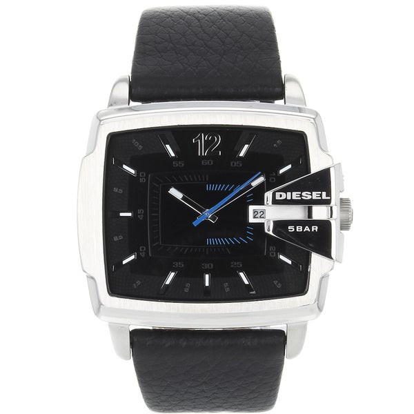 Black Diesel Men's 'Analog' Stainless-Steel Water-Resistant Quartz Watch