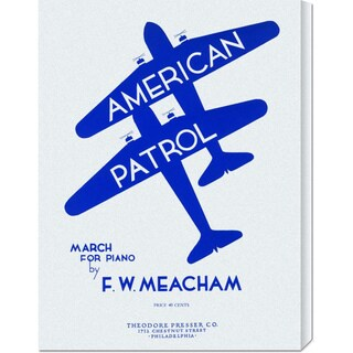 Global Gallery Retro Travel 'American Patrol' Stretched Canvas Art