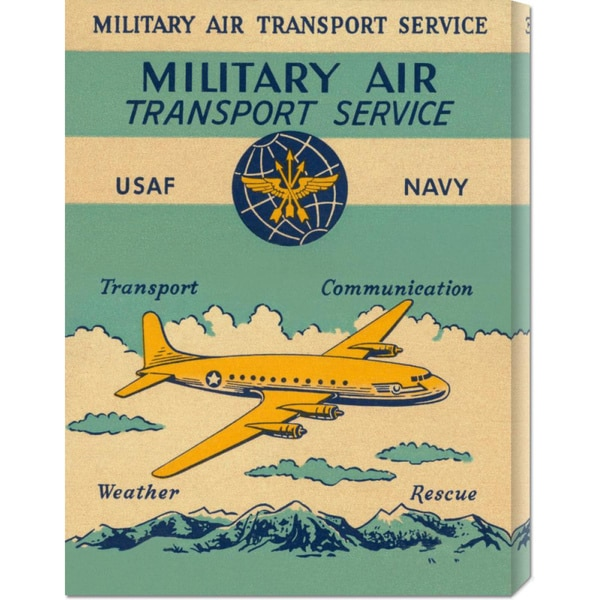 Global Gallery Retro Travel 'Military Air Transport Service' Stretched Canvas Art