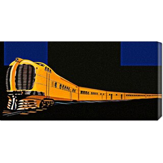 Global Gallery Retro Travel 'Golden Limited' Stretched Canvas Art