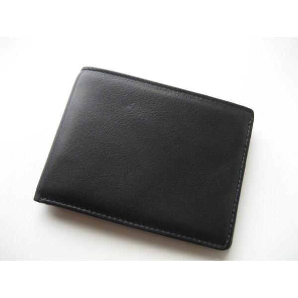 Joseph Daniel Black Leather Bi-fold Wallet