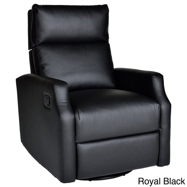Sidney Bonded Leather Swivel Glider Recliner