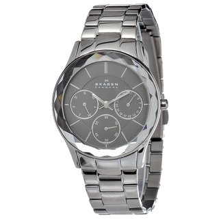 Skagen Women's Stainless-Steel Watch with Charcoal Dial