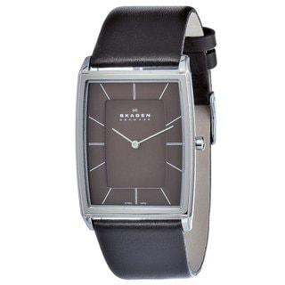 Shop Skagen Men S Stainless Steel Rectangular Watch Free