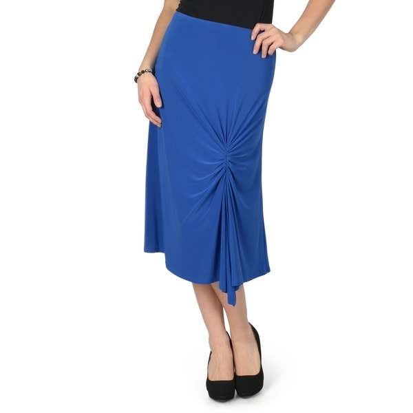 Journee Collection Women's Stretchy Gathered Skirt