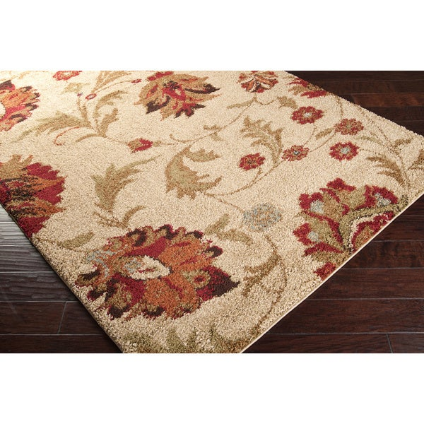 woven boise floral shag rug free shipping on orders over 45