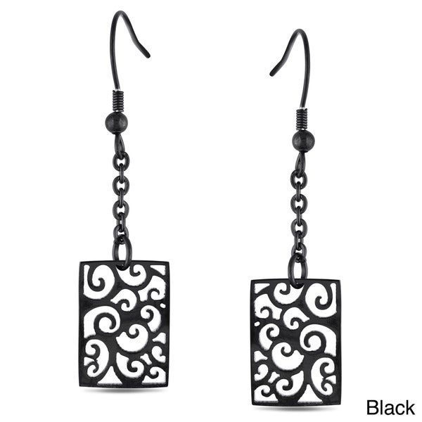 Miadora Stainless Steel Dangle Earrings