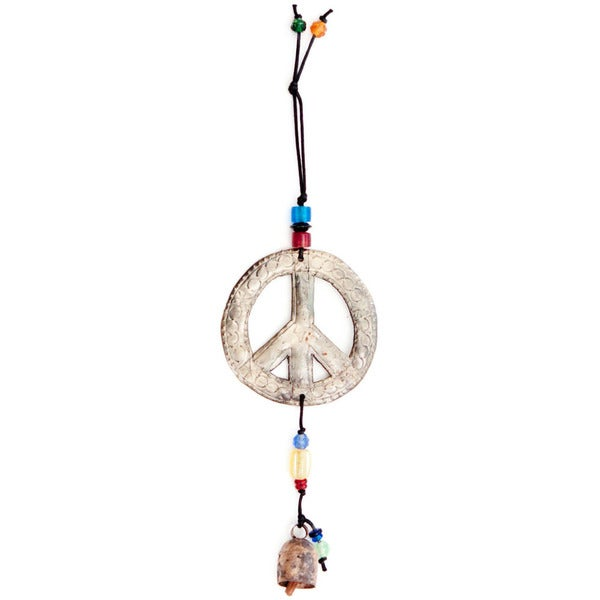 Handmade Peace Sign Wind Chime (India)