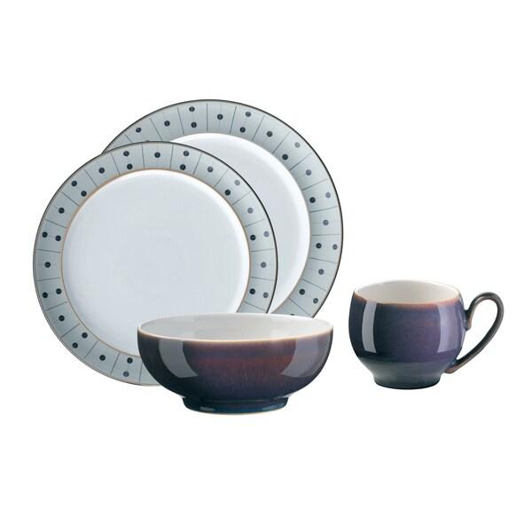 Denby Amethyst Stone 16-piece Stoneware Dinnerware Set