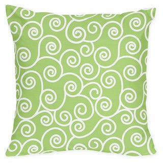 Sweet Jojo Designs Olivia Green Scroll Print Throw Pillow