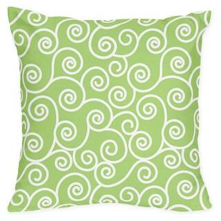 Sweet Jojo Designs Olivia Green Scroll Print Throw Pillow