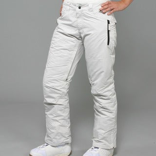 Zonal Women's 'Standoff' Light Silver Snowboard Pants